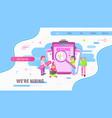 online recruitment vector image vector image