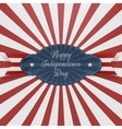 Paper Graphic Element for Independence Day vector image vector image