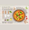 pizza mushroom vector image