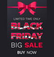 poster black friday limited promotion vector image vector image