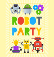 robot waving robotic dog friend design for kid vector image