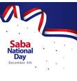saba national day template design vector image vector image