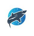 sea shark logo vector image vector image