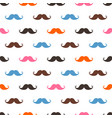 seamless mustache pattern on white vector image