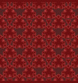 seamless pattern with red damask ornament vector image