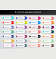 set bookmarks stickers labels tags vector image