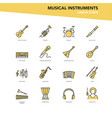 set linear icons - musical instruments vector image vector image