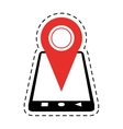 smartphone location pin map gps cut line vector image vector image