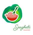 spaghetti pasta creative design vector image