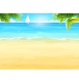 Summer beach palm trees on the vector image