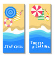 summer beach vacation banner vector image vector image