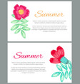 summer theme colorful posters vector image vector image
