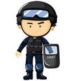 SWAT in protection uniform vector image vector image