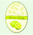 sweet juicy whole and slice lemon vector image vector image