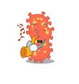 talented musician bacteroides cartoon design vector image vector image
