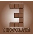 The number of bars chocolateThree vector image vector image