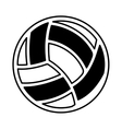 volleyball ballooon isolated icon vector image vector image