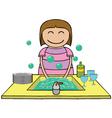 Washing time cartoon vector image vector image