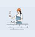 working in construction repairman concept vector image