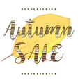 yellow leaf with Autumn Sale lettering and vector image vector image