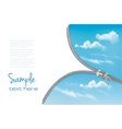 Zipper with a blue sky background vector image vector image