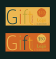 Gift voucher template Vintage style vector image