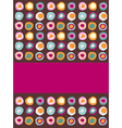 Multicolored dots background vector image
