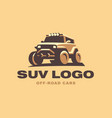 suv logo car emblem color version vector image