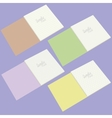 A set of four school notebooks vector image