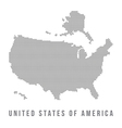 Dotted USA map on white background vector image
