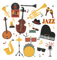 musical instruments decorative icons with guitar vector image