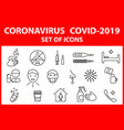 a set icons with symptoms and methods of vector image vector image