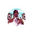 afroamerican rap singer vector image