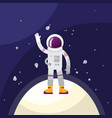 astronaut in space on planet vector image vector image