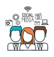 avatar group social media design isolated vector image