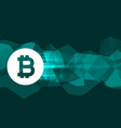 background for bitcoin currency symbol vector image vector image