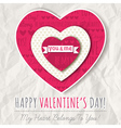 background with red valentine heart vector image vector image