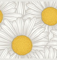 beautiful seamless background with flowers daisy vector image vector image