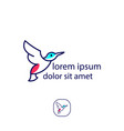 birds dove pigeon logo template vector image vector image