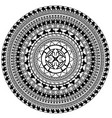black and white image of circle vector image