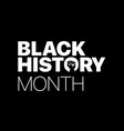 black history month logo with the fist vector image