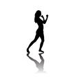 Black silhouette of Woman boxing vector image vector image