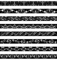 Black White element border designs vector image