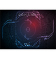 blue red light futuristic game interface vector image
