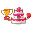 boxing winner wedding cake isolated with the vector image vector image