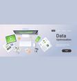 business analytics data optimization concept top vector image vector image