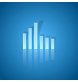 business graph blue vector image vector image