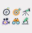 cartoon icons set hand drawn vector image vector image