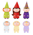 children with halloween costumes - witch mummy vector image vector image