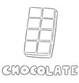 chocolate vector image vector image